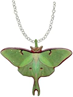 Luna Moth Necklace by d'Ears Stainless Steel 18