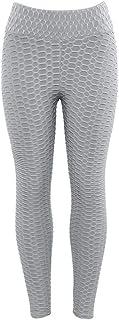 MINXINWY Leggins niña, Mallas Mujer Moda Casual Deportes Yoga Entrenamiento Gimnasio Fitness Ejercicio Atlético Pantalones Doblar Imprimiendo Chic