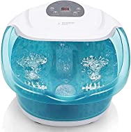 Foot Spa Foot Bath Massager with Heat Bubble Vibration and Temperature Control, 3 in 1 Multifunction...