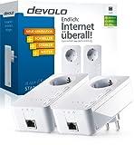 Devolo dLAN 650+ Starter Kit PowerLAN-Adapter (600 Mbit/s, 2 Adapter im Set, GB LAN Port, Steckdose,...