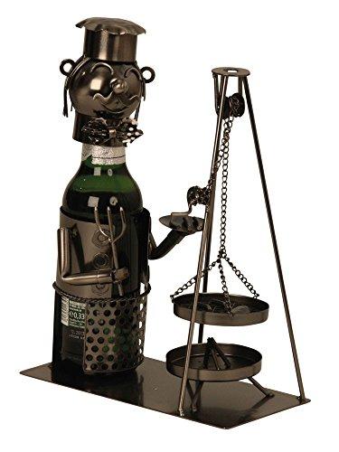 Extravaganter Bier Flaschenhalter Saarländisch Schwenker aus Metall Höhe 25 cm