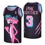 Men's Panther #3 Basketball Jersey Stitched Black Size L