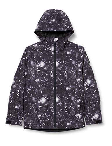 Quiksilver Mission Printed - Chaqueta Para Nieve Para Niños 8-16 Chaqueta Para Nieve, Niños, true black woolflakes, XL/16