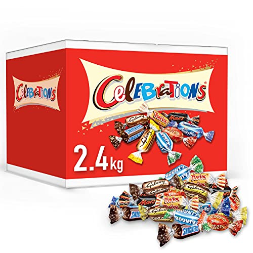 Celebrations Chocolate Bulk Box,HalloweenParty Bag Fillers, (Maltesers, Galaxy, Snickers and More), 2.4 kg