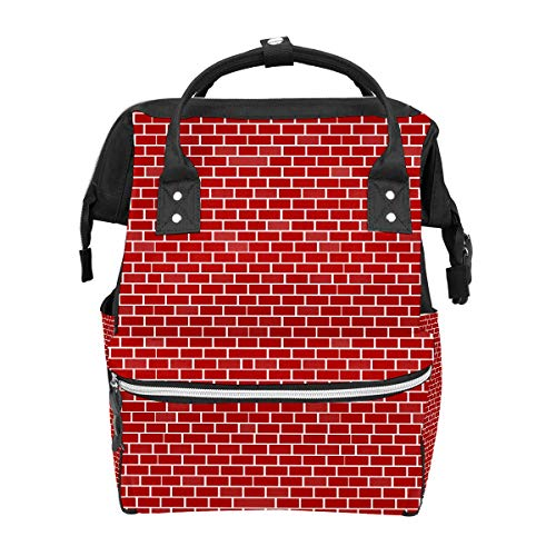 Diaper Bag Backpack Red Brick Wall City Walls Multifunction Travel Back Pack Baby Changing Bags Large Capacity Waterproof Stylish