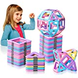 HOMOFY 42pc Castle Magnetic Blocks Learning & Development Magnetic Tiles Blocks 3D STEM Educational Kids Toys for 2 3 4 5 6 Years Old Boys Girls Toddlers Gifts