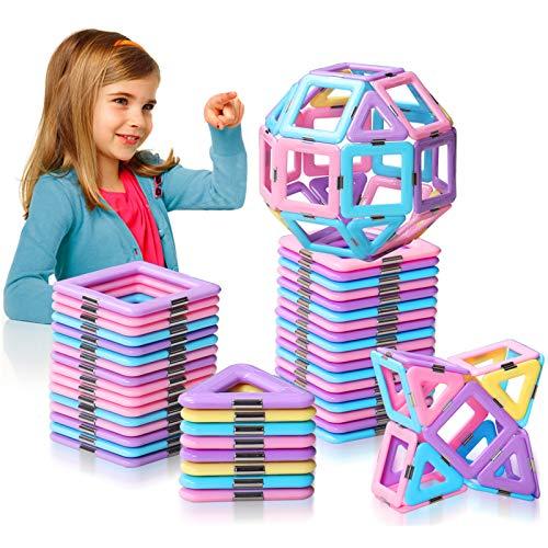 HOMOFY 42pc Castle Magnetic Blocks Learning & Development Magnetic Tiles Blocks 3D STEM Educational Kids Toys for 2 3 4 5 6 Years Old Boys Girls Toddlers Gifts