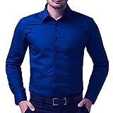 BEING FAB Men's Regular Fit Casual Shirt (BFRYBLUESHT02-40_Royal Blue_40)