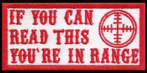Hells Range If you can Read this you are in Range Biker Red Angels Patch Aufnäher