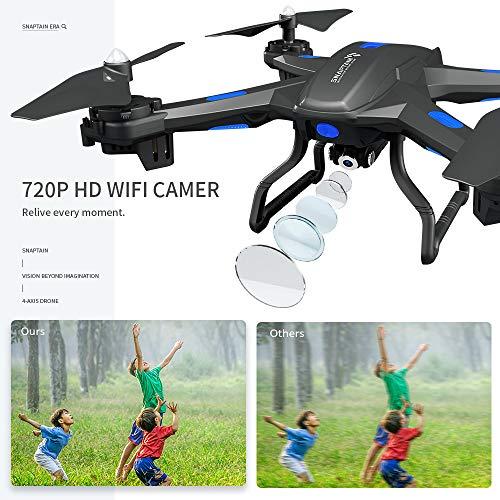 avec Contrôl SNAPTAIN S5C Drone avec Caméra 720P WiFi FPV Télécommande WiFi APP