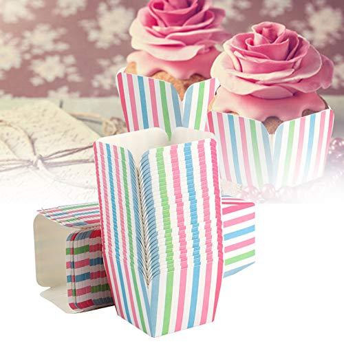 Xirfuni Estuches para Muffins, Hermoso Vaso de Papel, 200 Piezas Seguro para decoración, pastelería, Envoltorio para Pasteles