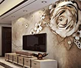 3D Tapete Home Decor Wohnzimmer Custom Große Tapete 3D Rose Lace Fototapete für Wände 3D Wgop