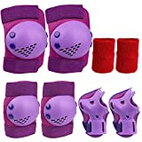 Vanmor Safety Gear for Youth Boys Girls, Youth Knee Pads Elbow Pads Wrist Guards Wrist sweatbands 4 in 1 Adjustable Protective Gear Set for Roller Skating Cycling Skateboard Bike Scooter Rollerblade
