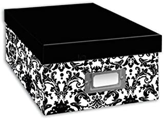Pioneer Photo Albums B 1 Bw Photo Storage Box, Damask Design