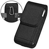 ykooe Cell Phone Pouch Nylon Holster Case with Belt Clip Cover for iPhone