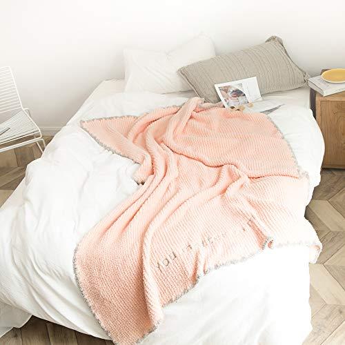Manta de forro polar, súper suave, manta suave, ligera, acogedora para el otoño y el invierno, manta de sofá de microfibra de poliéster, manta para la rodilla, decoración suave para el hogar