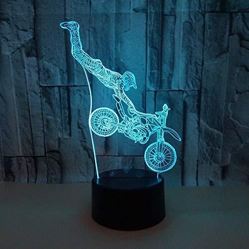 Spezialeffekte Motorrad 3D Tischlampe 7color Led Vision Led Nachtlicht Geschenk 3D Kleine Tisch 3D Leuchten