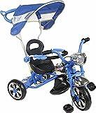 Triciclo con Pedales para Bebé Trike Bicileta para Niños Tricilo con Control Parental - Arti Classic W-11 - Azul