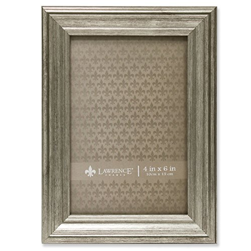Lawrence Frames Sutter Burnished Picture Frame, 4 by 6-Inch, Silver