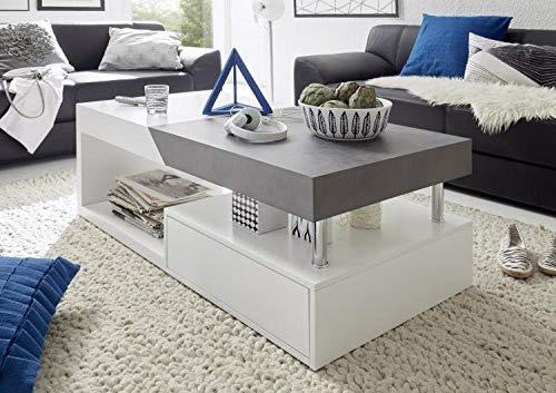 RASANTI Couchtisch Hope von MCA Furniture Weiss matt/Beton