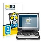 BROTECT 2X Entspiegelungs-Schutzfolie kompatibel mit Panasonic Toughbook CF-33 Bildschirmschutz-Folie Matt, Anti-Reflex, Anti-Fingerprint