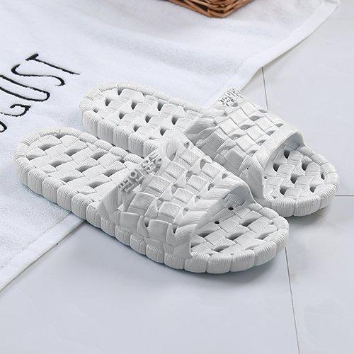fankou Hausschuhe Hausschuhe Sommer Hause Schuhe rutschfest weichen Boden Männer gestreiften kalten Bäder und Paare Hausschuhe weiblich, 41-42, hellgrau ausgesetzt Grau