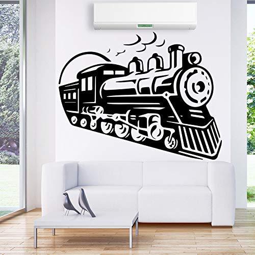 Retro Train Vinyl Wall Sticker Tatuajes de pared para sala de estar Niños Habitación Decoración Accesorios Decoración de la pared Pegatinas Mural 43 * 54Cm