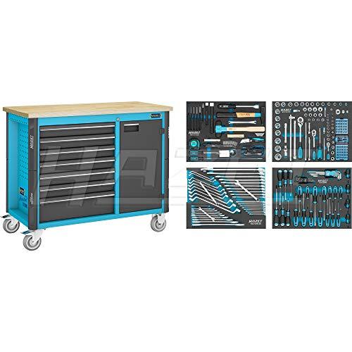 HAZET Werkbank, fahrbar, inkl. Sortiment (inkl. 230 Profi-Werkzeuge) 179NW-7/230