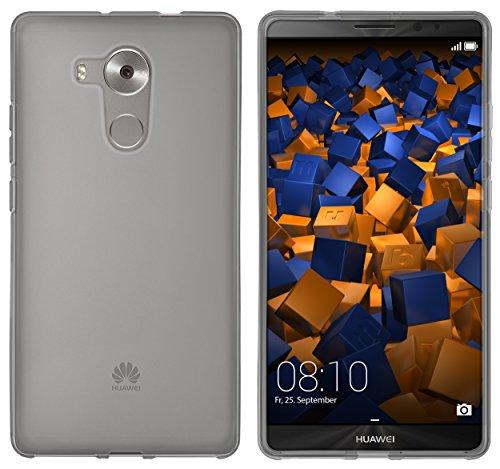 mumbi Hülle kompatibel mit Huawei Mate 8 Handy Case Handyhülle, transparent schwarz - 2