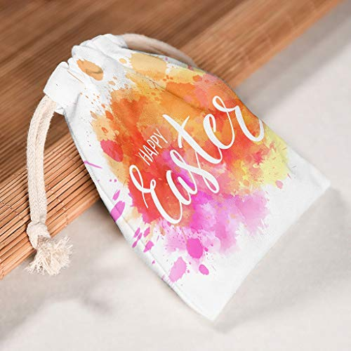 ChengMaR Easter Canvas Bag Large Gift Package for Parties 6 Pack White 2025cm