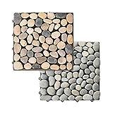 Home Deluxe - Naturstein Terrassenfliese - Braun Mix - 1 m² - 11 Fliesen á 30 x 30 cm - verschiedene Farben