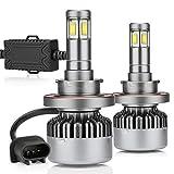 H13 Led Headlight Bulbs 14000LM 100W Hi Lo Dual Beams 9008 6000K White 4 Sides CSP Chips Super Bright Lamps Conversion Kits ZDATT