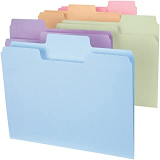 Smead SuperTab File Folder, Oversized 1/3-Cut Tab, Letter Size, Assorted Colors, 24 per Pack (11927)