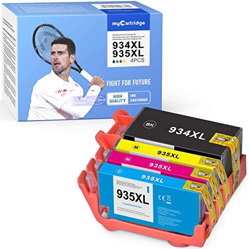 MyCartridge Compatibili Cartucce HP 934 XL 935 XL 934XL 935XLper Stampante HP Officejet Pro 6230 6830 6820 6220 6835 6235 6815(Nero/Ciano/Magenta/Giallo)