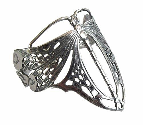 Jugendstil Damen Armspange Armreif 925 Silber Libelle