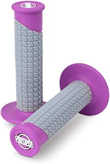 ProTaper Neon Purple/Grey Clamp-On Pillow Top Grips Pair for Most 2-Stroke and 4-Stroke Motocross Models 021675