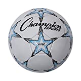 Champion Sports Viper Soccer Ball, Size 5 , Blue/Black/White