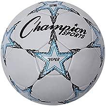 Champion Sports Viper Soccer Ball, Size 5 , Blue/Black/White