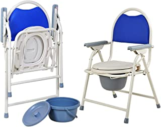 LZLYER Shower Chair Toilet Bathtub Shower Wheelchair Portable Toilet/Bedside Commodes/Elderly Person/Pregnant Woman/Handicapped Person Potty Chair/Slip-Resistant