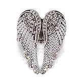 HOMEYU ANILLO STARYU con alas de ángel Anillos austriacos con piedras preciosas Anillos de boda para mujer
