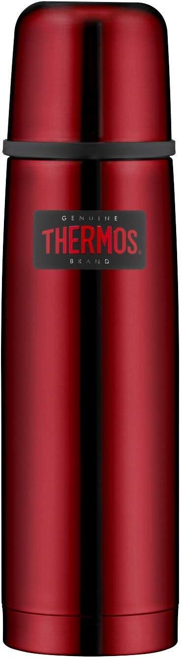 THERMOS Light & Compact - Termo (Acero Inoxidable, 0,5 L), Color Rojo
