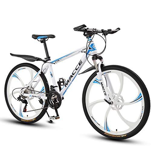 PBTRM Bicicleta Montaña BTT 26 Pulgadas 27 Velocidades, Frenos Disco, para Adolescentes/Adultos, Blanco