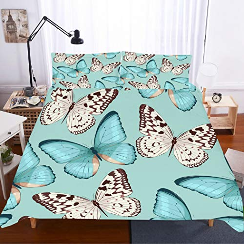 cute butterflies design bedding set