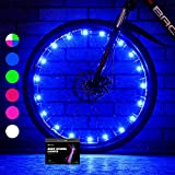Sumree 2-Tire Pack LED Bike Wheel Lights with Batteries Included,Bike Spoke Light Super Bright .Bicycle Light Best Gifts for Boys and Girls Even for Men and Women(Blue)