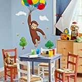 RoomMates RMK1082GM Curious George Peel and Stick Giant Wall Decal