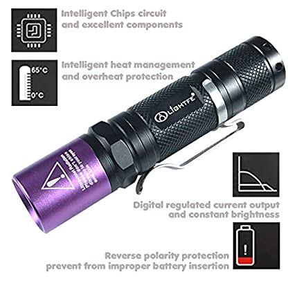 Black Light UV Flashlight with South Korea UV 395nm LED Source for Pet Urine Stain Detector, Professional Jade and Amber Appraisal High Power and 90 Feet Beam Distance (UV Light 395nm) 7