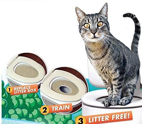 The Magic Toy Shop Katzen-Toilettensitz-Trainings-Set mit Katzenminze