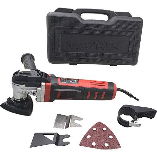 Matrix 120400710 Mutlitool, Multifunktionswerkzeug, Vibrations, MC 600 Schleifen, Schaben, Sägen in einem Gerät mit Koffer
