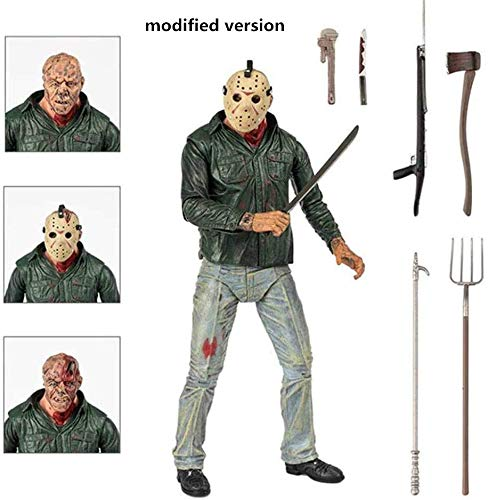 Lotote Modelo Animado Viernes por, 13ª De Marzo De Jason Voorhees, Figuras De AccióN De Estatuas para La DecoracióN del Hogar Car Collection