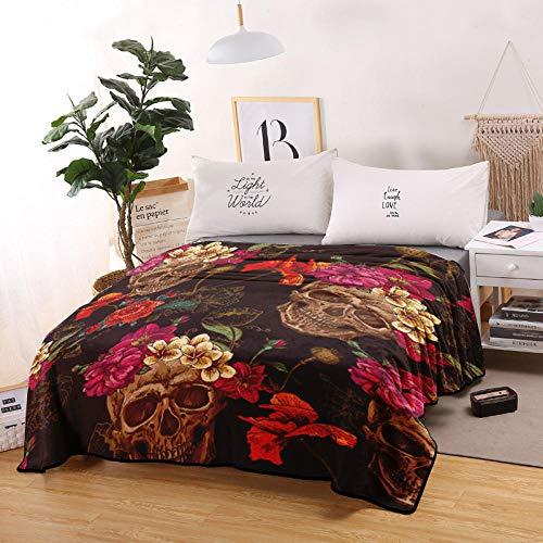 PengMu Super zachte deken, de 3D-print kan zich niet laten, de bloemen van Taro van flanel met duurzame bollen voor bed of kantoor
